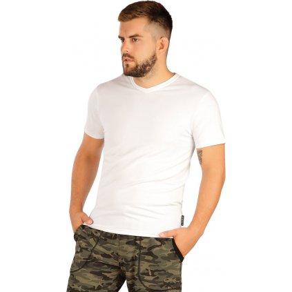 Pánské triko LITEX s krátým rukávem bílé