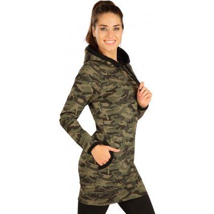 Dámské šaty LITEX s kapucí khaki
