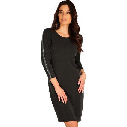 Dámské šaty LITEX s 3/4 rukávem černé