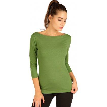 Dámské tričko LITEX s 3/4 rukávem zelené