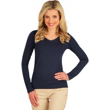 Dámské tričko LITEX s dlouhým rukávem modré