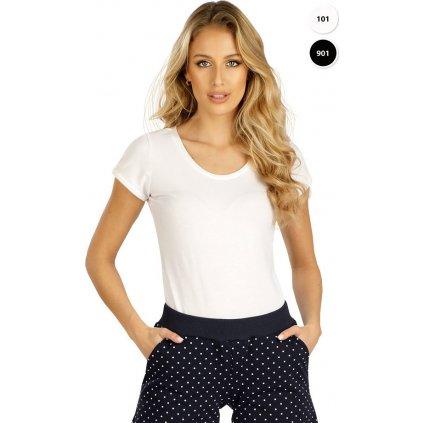 Dámské triko LITEX s krátkým rukávem černé