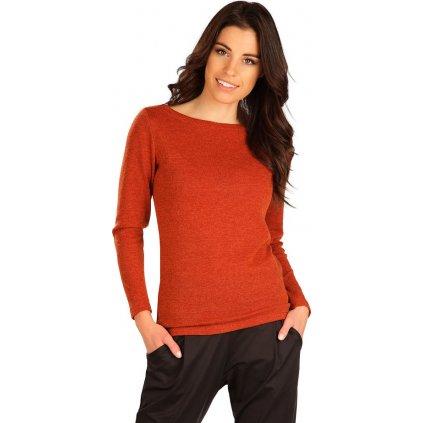 Dámský svetr LITEX s dlouhým rukávem hnědý