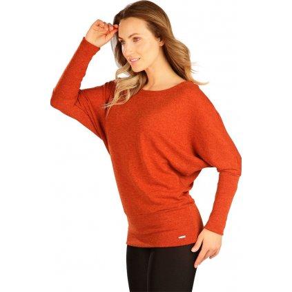 Dámský svetr LITEX s netopýřím rukávem hnědý