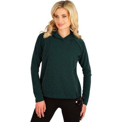 Dámské triko LITEX s kapucí zelené