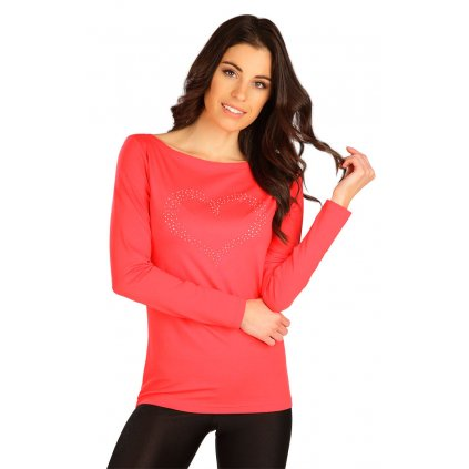 Dámské triko LITEX s dlouhým rukávem červené