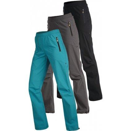 Dámské kalhoty do pasu LITEX dlouhé modré/černé/šedé