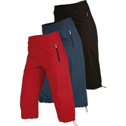 Dámské kalhoty do pasu LITEX v 3/4 délce černé/modré/červené