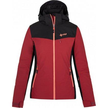 Dámská lyžařská bunda KILPI Flip-w tmavě červená
