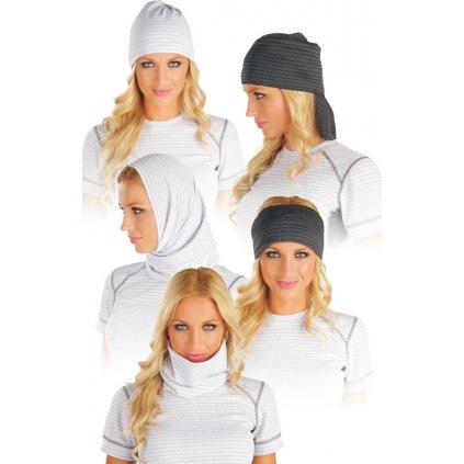 Multifunkční šátek LITEX bílý/šedý