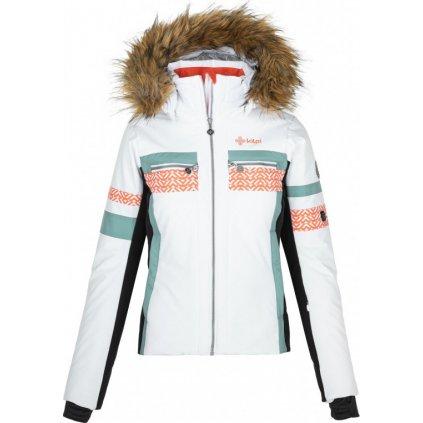 Dámská vyhřívaná lyžařská bunda KILPI Aniela-w bílá