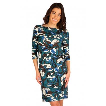 Dámské šaty LITEX s 3/4 rukávem modré