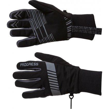 Zimní běžkařské rukavice PROGRESS Snowsport Gloves černá/šedá