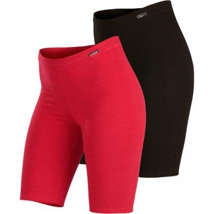 Dámské legíny LITEX nad kolena černé/růžové