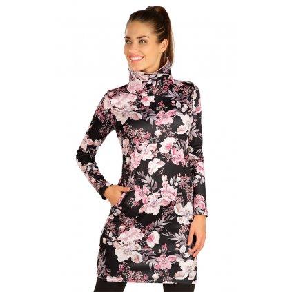 Dámské mikinové šaty LITEX s dlouhým rukávem černé