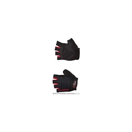 SIMPLE MITTS cyklistické rukavice (Barva tm.šedá/červená, Velikost XXL)