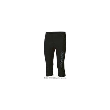 REACTIV pánské 3/4 cyklo kalhoty (Barva černá/šedé prošití, Velikost XXL)