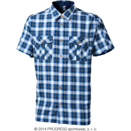 PULSE pánská košile s bambusem (Barva černá kostka, Velikost S)