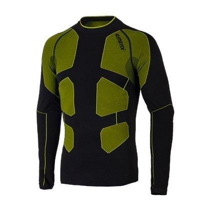 Seamless triko CALEB (Barva černá se zelenou, Velikost L)
