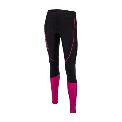 Dámské běžecké legíny LISBET (Barva XS černá s růžovou, Velikost XS)