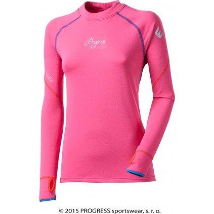MONA dámský termo pulovr (Barva růžová, Velikost XL)