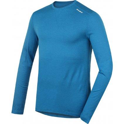 Pánské merino dlouhé triko HUSKY modrá  + Sleva 5% - zadej v košíku kód: SLEVA5