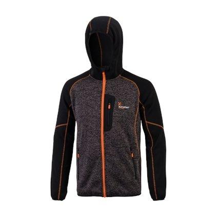 Thermo svetr s kapucí TABER (Barva antracit s černou, Velikost XXL)