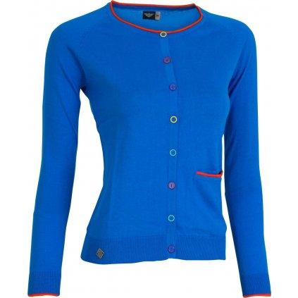 Dámský svetr W Button Blue (Velikost 42)