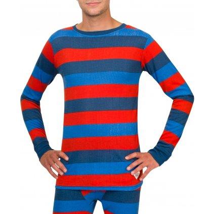 Pánské triko Bodyheat Men´s Long Sleeve Stripy (Velikost XXL)