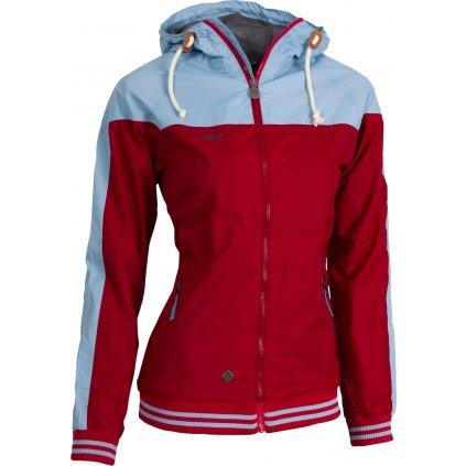 Dámská outdoorová bunda WOOX Streetshell Ladies´ Red  + Sleva 5% - zadej v košíku kód: SLEVA5