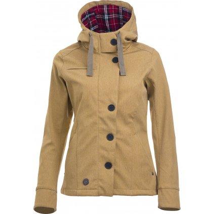 Dámská softshellová bunda MOLLIS CONCHA gold chica  + Outdoorová voděodolná svítilna LED