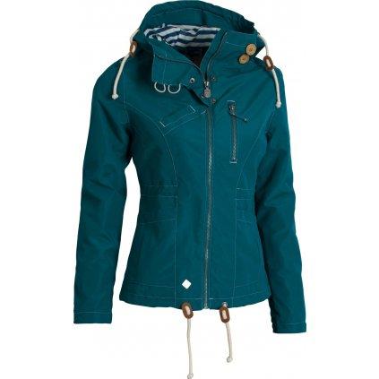 Dámská podzimní bunda WOOX Drizzle Jacket Ladies´ Blue  + Sleva 5% - zadej v košíku kód: SLEVA5