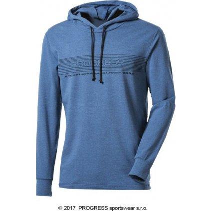 Pánské triko s dlouhým rukávem a kapucí s bambusem PROGRESS Cameron  + Sleva 5% - zadej v košíku kód: SLEVA5