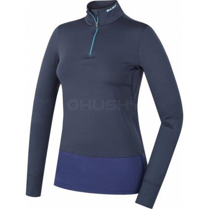 Dámské termo triko HUSKY Active winter long zip modrá, XL  + Sleva 5% - zadej v košíku kód: SLEVA5