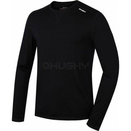 Pánské merino triko HUSKY černá  + Sleva 5% - zadej v košíku kód: SLEVA5