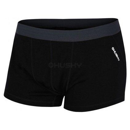 Pánské merino boxerky HUSKY černá  + Sleva 5% - zadej v košíku kód: SLEVA5