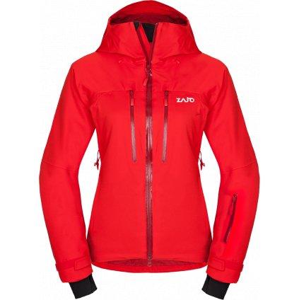 Dámská nepromokavá lyžařská bunda ZAJO Nuuk Neo W Jkt rudá  + Sleva 5% - zadej v košíku kód: SLEVA5