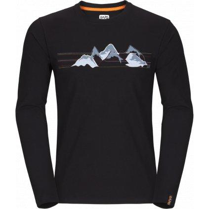 Pánské tričko Bormio T-shirt LS černá 2 (Velikost 3XL)