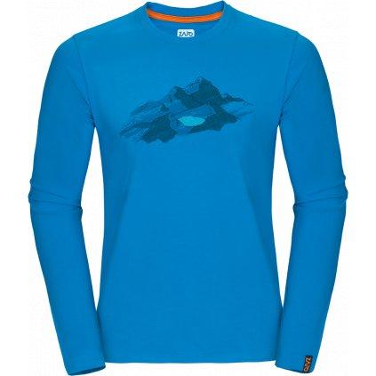 Pánské triko ZAJO Bormio T-shirt LS modrá  + Sleva 5% - zadej v košíku kód: SLEVA5