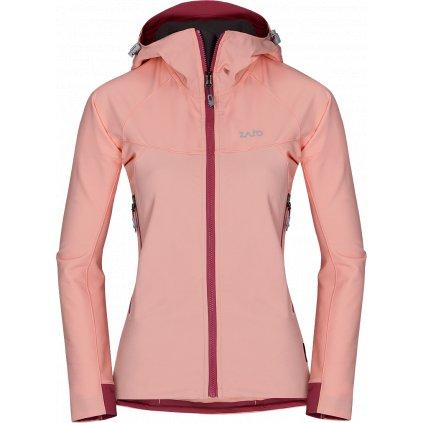 Dámská softshellová bunda ZAJO Air LT Hoody W Jkt růžová  + Sleva 5% - zadej v košíku kód: SLEVA5