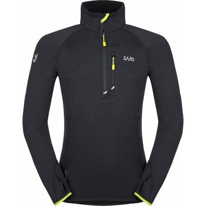 Pánská fleecová bunda ZAJO Arlberg Pull černá  + Sleva 5% - zadej v košíku kód: SLEVA5