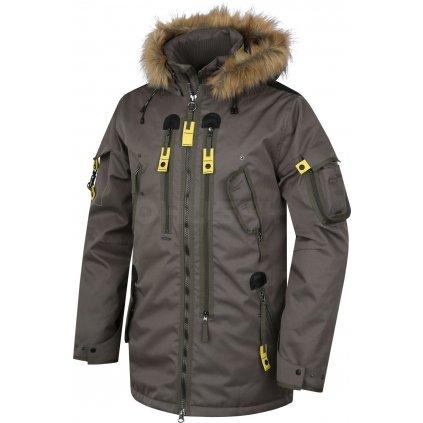 Pánská plněná zimní bunda  Nerida tm. olivová (Velikost XXL)