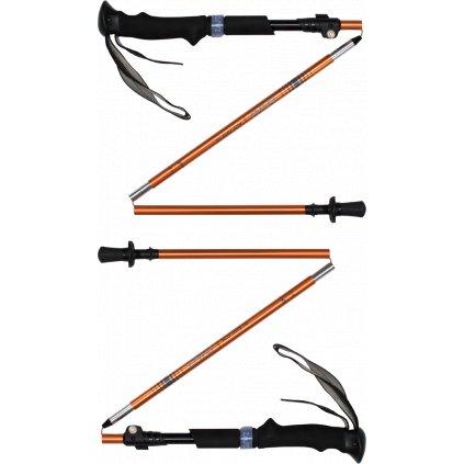 Trekingové hole Trekking Poles ALU Fold oranžová  + Sleva 5% - zadej v košíku kód: SLEVA5
