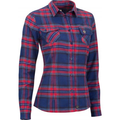 Dámská košile WOOX Flannel Ladies´ Peacoat  + Sleva 5% - zadej v košíku kód: SLEVA5