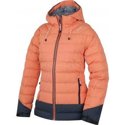 Dámská péřová bunda  Fadin L sv. oranžová (Velikost XL)