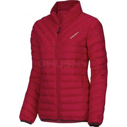 Dámská péřová bunda   Drees L červená (Velikost M)
