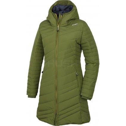 Dámský péřový kabátek   Daili olivová (Velikost XL)