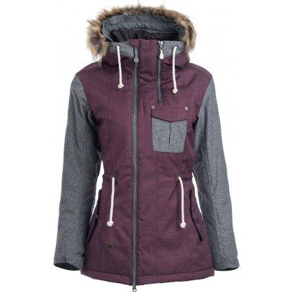 Dámská zimní bunda WOOX Lanula Violet Chica  + Sleva 5% - zadej v košíku kód: SLEVA5