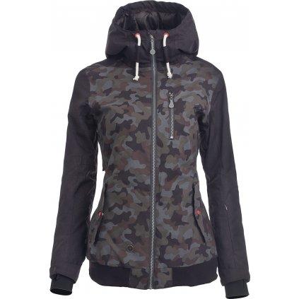 Dámská zimní bunda WOOX Lanula Camuflage Chica  + Sleva 5% - zadej v košíku kód: SLEVA5