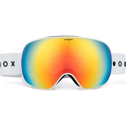 Lyžařské brýle WOOX Opticus Opulentus White/Re  + Sleva 5% - zadej v košíku kód: SLEVA5